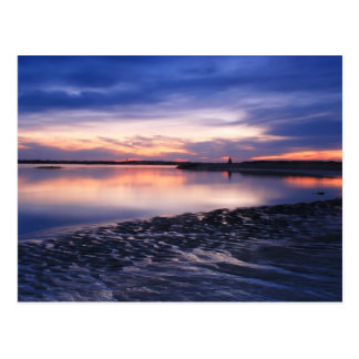 Tidal Flats at Sunset, Salisbury Beach Postcard