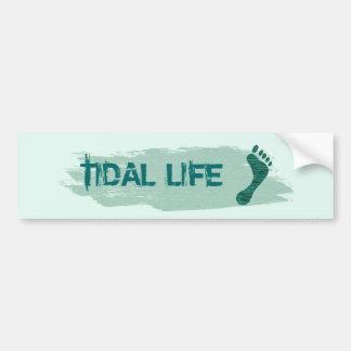 Tidal Life Barefoot Bumper Stick Bumper Sticker