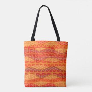 Tidal Tribal Lava Tote Bag