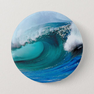 Tidal wave 3 inch round button
