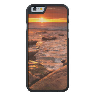 Tide pools at sunset, California Carved® Maple iPhone 6 Slim Case