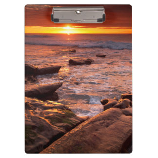 Tide pools at sunset, California Clipboard
