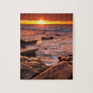 Tide pools at sunset, California Jigsaw Puzzle