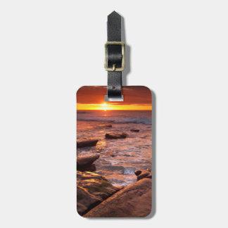 Tide pools at sunset, California Luggage Tag