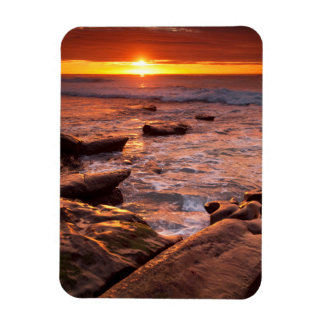 Tide pools at sunset, California Magnet