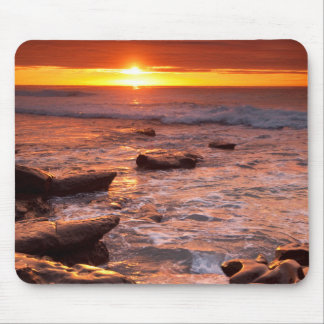 Tide pools at sunset, California Mouse Pad