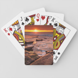 Tide pools at sunset, California Playing Cards