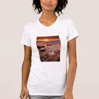 Tide pools at sunset, California T-Shirt