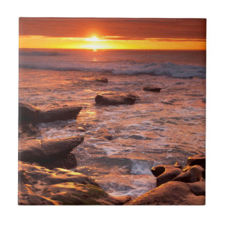Tide pools at sunset, California Tiles