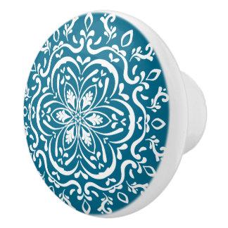 Tidepool Mandala Ceramic Knob