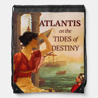 Tides of Destiny Drawstring Back Pack Drawstring Bag