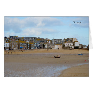 Tides Out St Ives Cornwall England Card