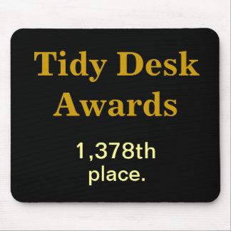 Tidy Desk Awards Cruel Funny CoWorker Joke Mouse Pad