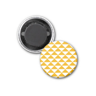 Tidy triangle mustard fridge magnet
