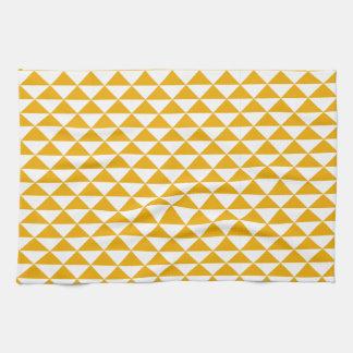 tidy triangle mustard print tea kitchen towel