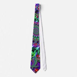 Tie - Bokeh Fractal Purple Terquoise