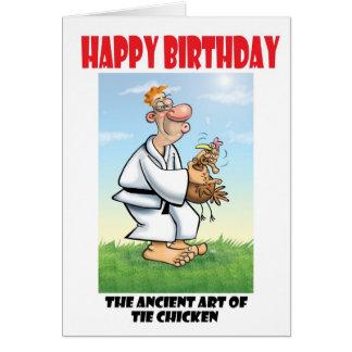 Tie Chicken Card