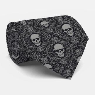 Tie/Damask Skulls Tie