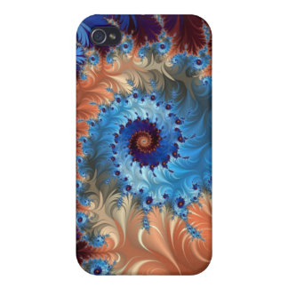 Tie Dye Abstract Swirls - Digital Art Case For The iPhone 4