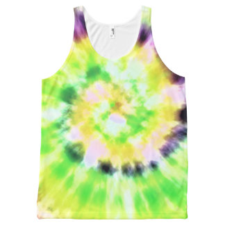Tie-Dye All-Over-Print Tank Top