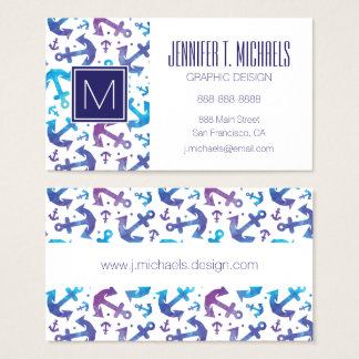 Tie Dye Anchor Pattern Business Card