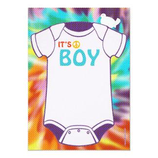 Tie Dye Baby Shower Invitations Boys