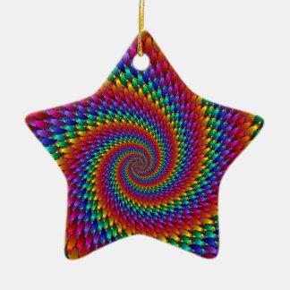 Tie Dye Basic Ceramic Ornament