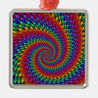 Tie Dye Basic Metal Ornament