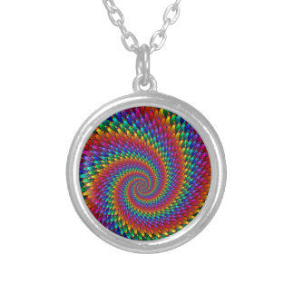 Tie Dye Basic Silver Plated Necklace