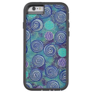 Tie Dye Blue Circles Pattern Tough Xtreme iPhone 6 Case