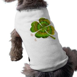 Tie Dye Clover Dog Tee Shirt