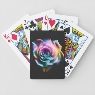 Tie Dye Colorful Rose Bicycle Playing Cards