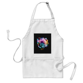 Tie Dye Colorful Rose Standard Apron