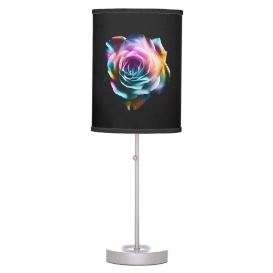 Tie Dye Colourful Rose Table Lamp