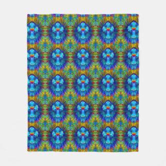Tie Dye Cross Fleece Blanket