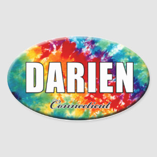 Tie-Dye Darien, CT Sticker