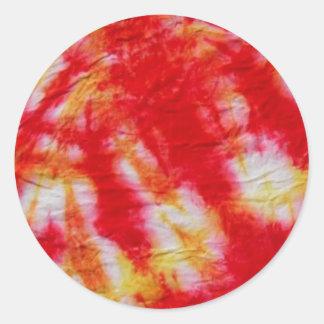 Tie-Dye Design Classic Round Sticker
