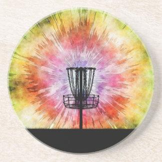 Tie Dye Disc Golf Basket Coaster