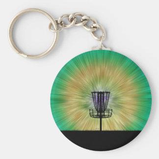 Tie Dye Disc Golf Basket Keychain
