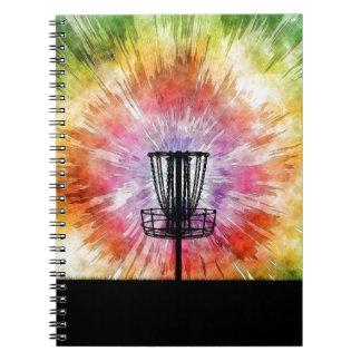 Tie Dye Disc Golf Basket Notebooks