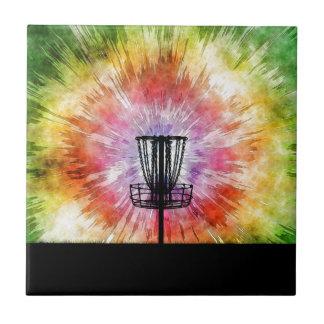 Tie Dye Disc Golf Basket Tile