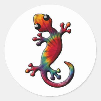 Tie Dye Gecko Lizard Classic Round Sticker