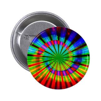 Tie-Dye Groovy Rainbow 2 Inch Round Button