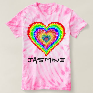 Tie Dye Heart Shirt-Customize it! T-shirt