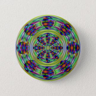 Tie Dye Hippie Kaleidoscope Swirls 2 Inch Round Button