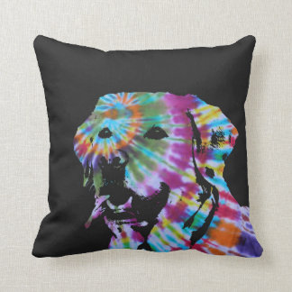 Tie dye Labrador Throw Pillow
