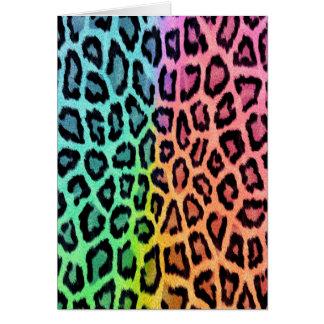 Tie Dye Leopard Print Card