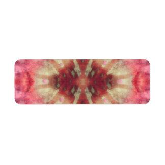 Tie Dye Maroon Radial Rays Spot Pattern