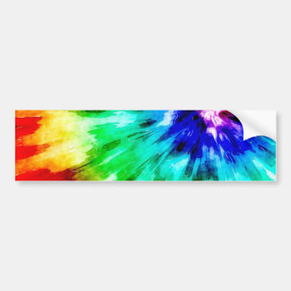Tie Dye Meets Watercolor Bumper Sticker