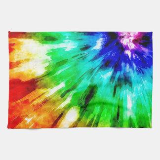 Tie Dye Meets Watercolor Towel